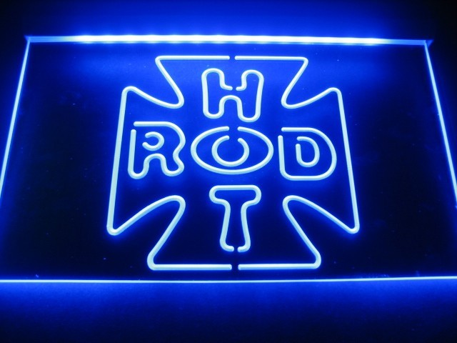Hot Rod Cross Logo Neon Light Sign