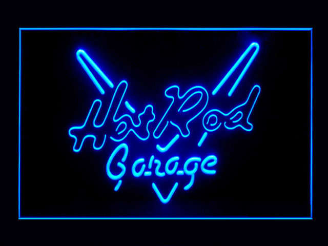 Hot Rod Garage LED Light Sign
