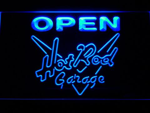 Hot Rod Garage Open LED Neon Sign