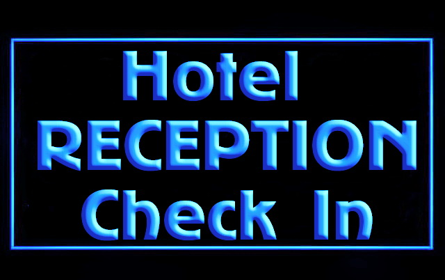 Hotel Reception Check In LED Neon Light Sign