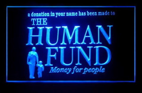 Human Fund Seinfeld LED Neon Sign