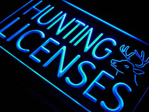 Hunting Licenses Hunt Deer Neon Light Sign