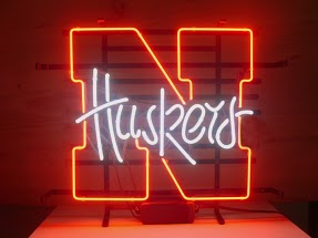 Huskers Red Classic Neon Light Sign 17 x 14