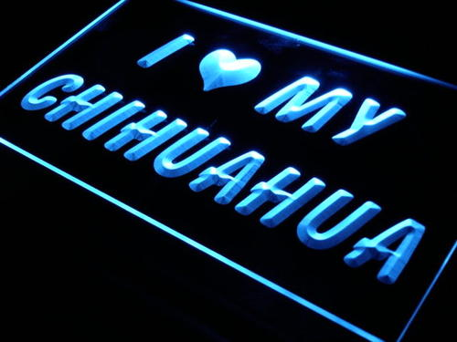 I Love My Chihuahua Dog Pet Neon Light Sign