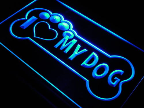 I Love My Dog Pet Shop Lure Neon Light Sign