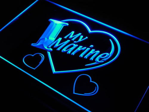 I Love My Marine Navy Military Neon Light Sign