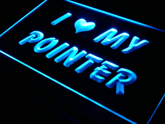 I Love My Pointer Dog Pet Shop Neon Light Sign