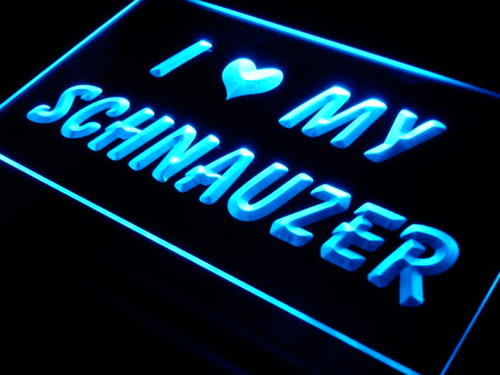 I Love My Schnauzer Dog Pet Shop Neon Light Sign