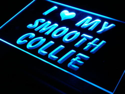 I Love My Smooth Collie Dog Pet Neon Light Sign