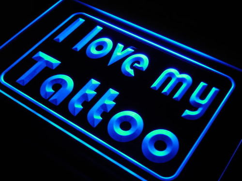 I Love My Tattoo Shop Display Neon Light Sign