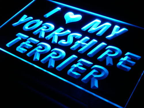 I Love My Yorkshire Terrier Dog Neon Light Sign