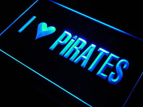 I Love Pirates Home Display Room Neon Light Sign