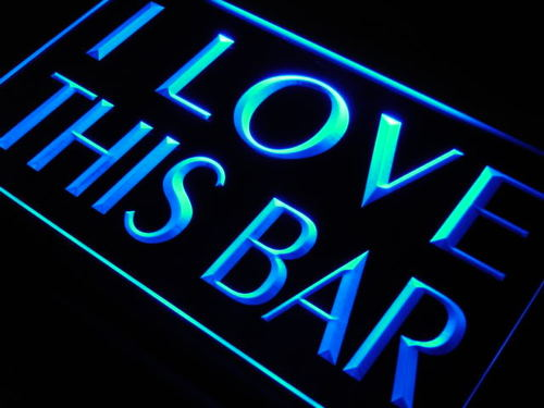 I Love This Bar Pub Beer Gift Neon Light Sign
