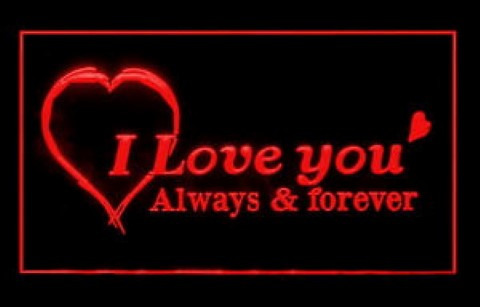 I Love You Forever LED Neon Sign