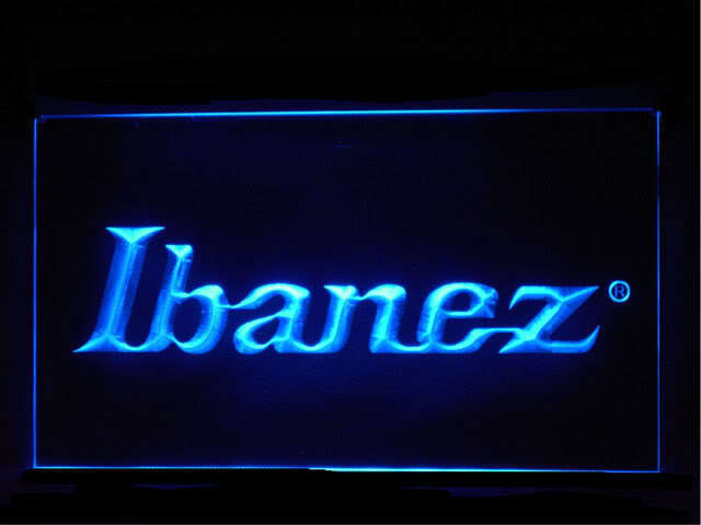 Ibanez Guitar Display Led Light Sign