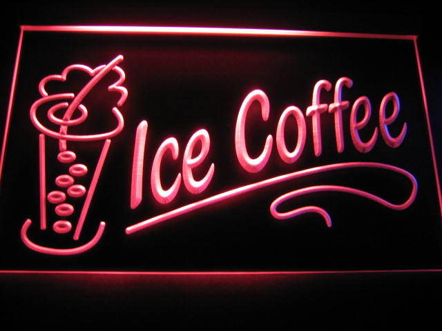 Ice Coffee Logo Store LED Sign