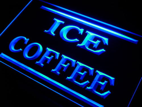 Ice Coffee Shop Neon Light Sign