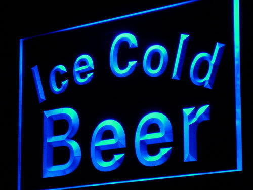 Ice Cold Beer Bar Pub Club Neon Light Sign