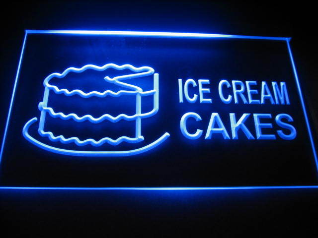 Ice Cream Cakes Logo Shop Neon Light Sign