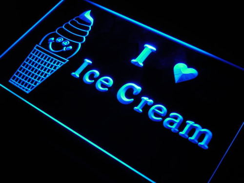 Ice Cream Shop Cafe Bar Beer Neon Light Sign