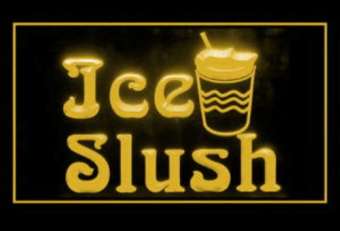 Ice Slush Sweet Cold Drink Frozen LED Neon Sign
