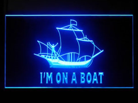 Im On A Boat For Display LED Neon Sign