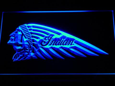 Indian Chief Left Facing LED Neon Sign
