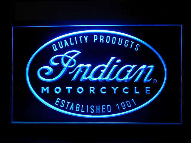 Indian Motorcycle LED Light Sign