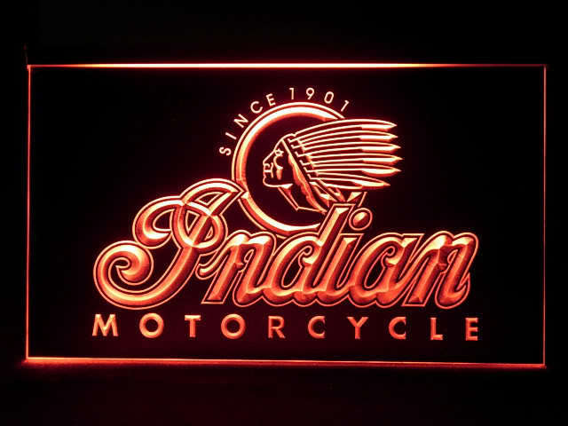Indian Motorcycle Lit LED Sign
