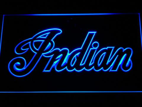Indian Wordmark Outline LED Neon Sign
