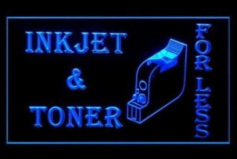 InkJet Toner For Less Printer Shop LED Neon Sign