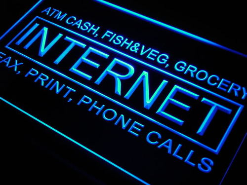 Internet ATM Cash Fax Phone Neon Light Sign
