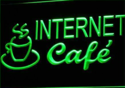 Internet Cafe Coffee LED Sign