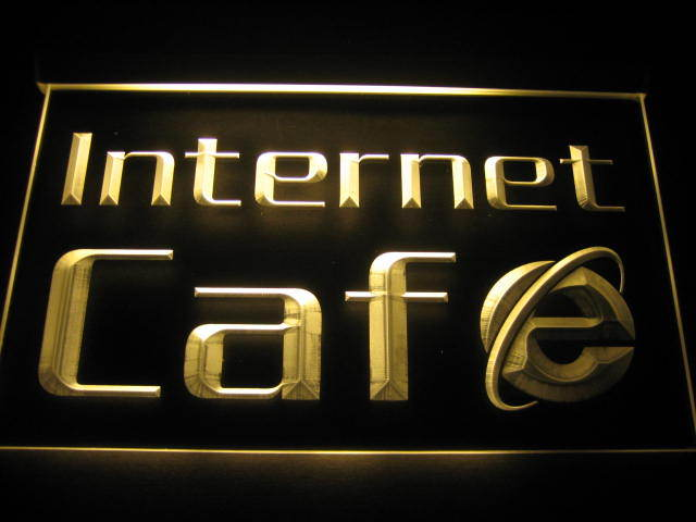Internet Cafe OPEN Shop neon light sign