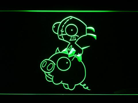 Invader Zim Piggy LED Neon Sign