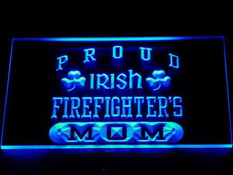 Irish Fire Fighter's Mom LED Neon Sign