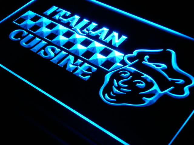 Italian Cuisine Food Cafe Bar Neon Light Sign