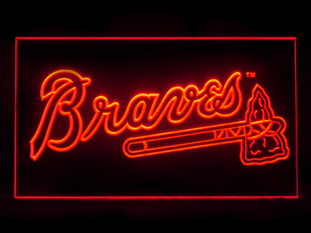 Atlanta Braves Baseball Display Shop Neon Light Sign