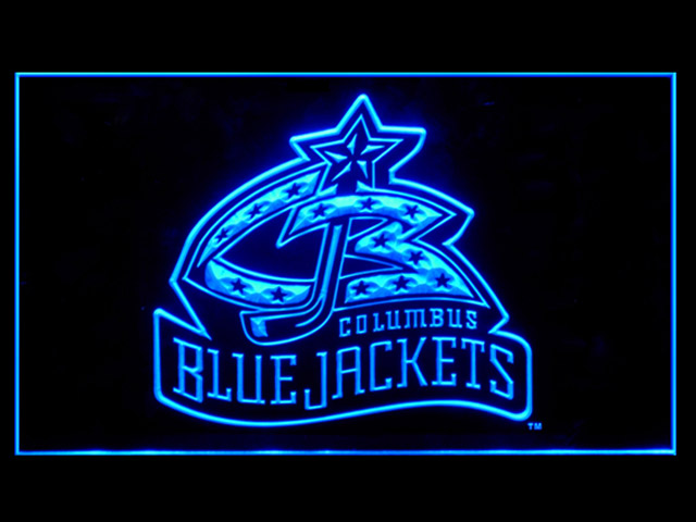 Columbus Blue Jackets Display Shop Neon Light Sign