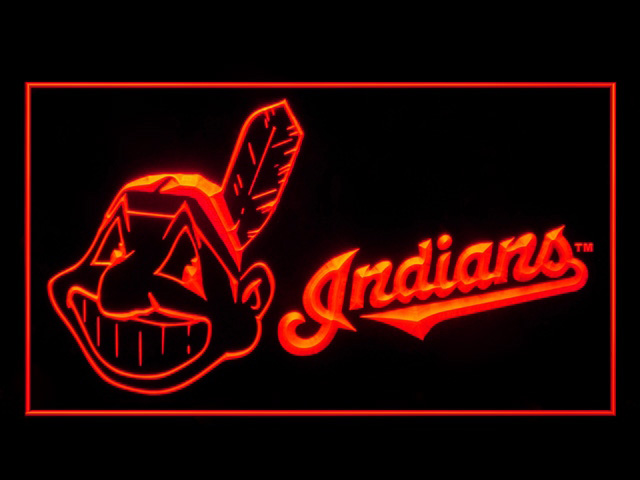 Cleveland Indians Display Shop Neon Light Sign
