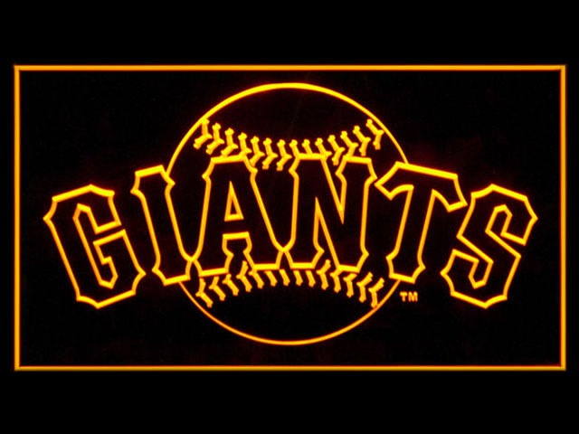 San Francisco Giants Ball Display Shop Neon Light Sign