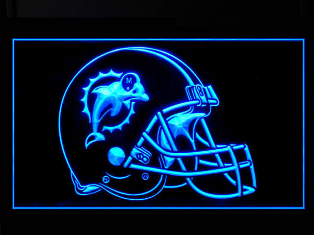 Miami Dolphins Helmet Display Shop Neon Light Sign