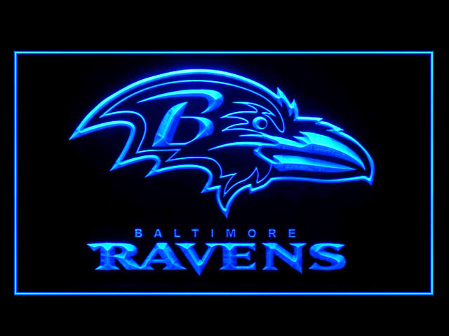 Baltimore Ravens Football Display Shop Neon Light Sign