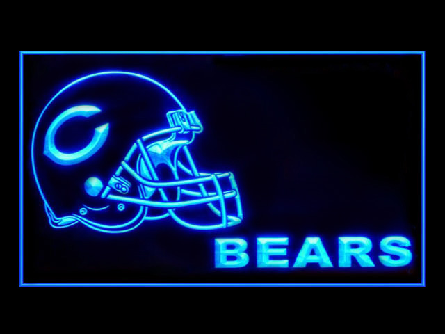 Chicago Bears Helmet Shop Neon Light Sign