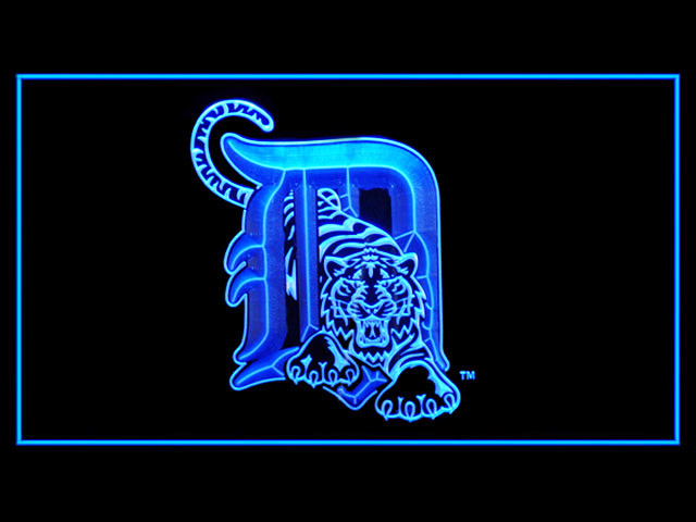 Detroit Tigers Baseball Shop Neon Light Sign