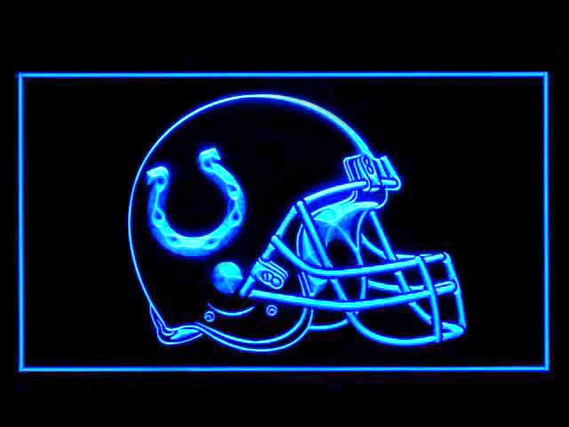 Indianapolis Colts Helmet Display Shop Neon Light Sign