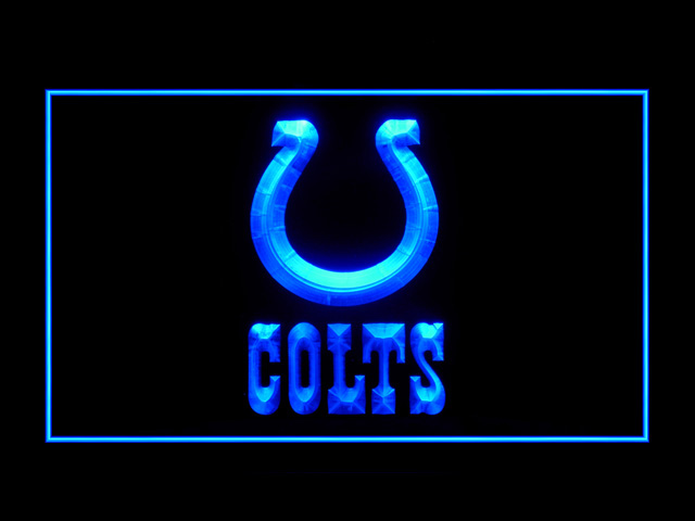 Indianapolis Colts Script Football Shop Neon Light Sign