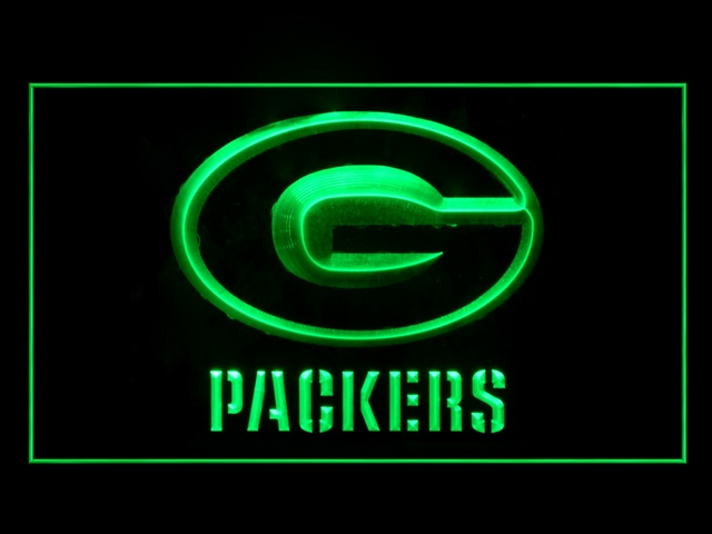 Green Bay Packers Football Display Shop Neon Light Sign