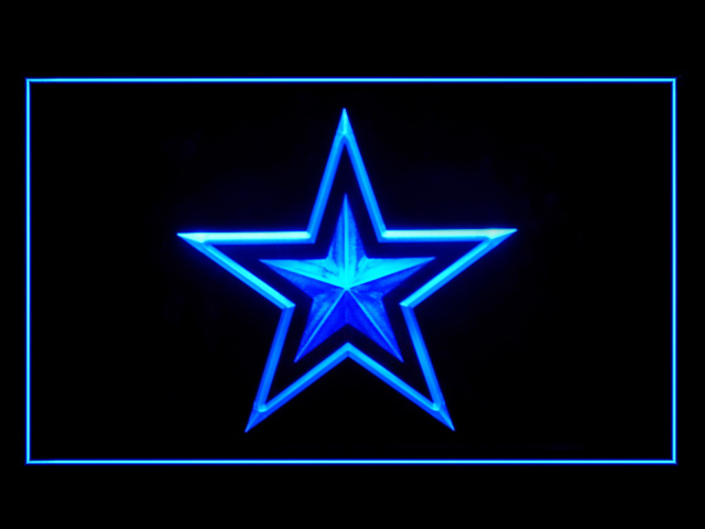 Dallas Cowboys Star Display Shop Neon Light Sign