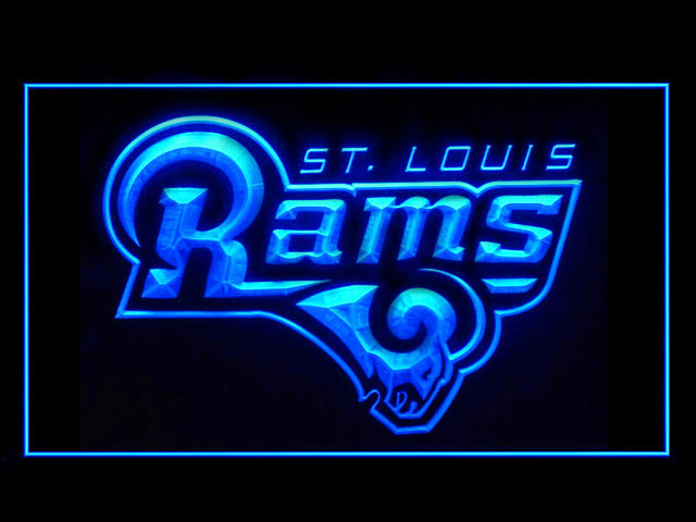 St. Louis Rams Logo Display Shop Neon Light Sign